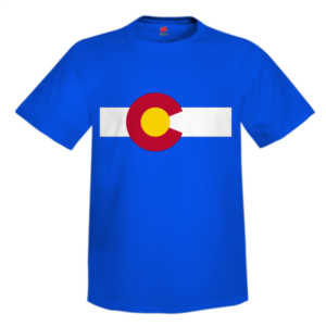 Colorado Flag Custom T Shirt Design