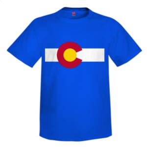 Colorado Flag Custom T Shirt Design