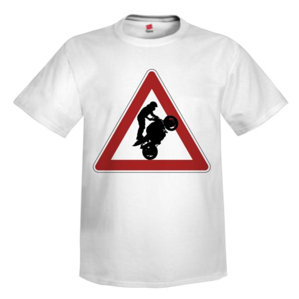 hazzard motorcycle ahead white tee shirt